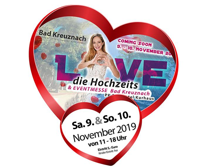 Love die Hochzeits & Eventmesse in Bad Kreuznach